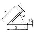 Уголок косоугольный 39х39х2.5 мм