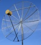 Тарелка 1.9 м с однодиапазонным облучателем высокой мощности